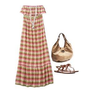 Mossimo Strapless Maxi Dress Sz XXL